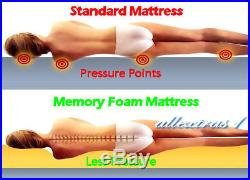 12 DOUBLE 4ft 6 BED SIZE MEMORY FOAM MATRESS + 2 FREE PILLOWS & FREE POSTAGE