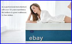 25 CM 4ft6 Memory Foam Mattress With Pressure Relief In a Box Double Size