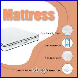 25cm Quilted Memory Foam Individual Pocket Sprung Mattress Hybrid Single Double