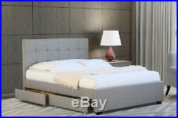2 Drawer Storage Beds With Sprung Or Memory Foam Mattress