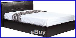 3ft 4ft 4ft6 5ft Low Frame OR Ottoman Storage Bed Black Brown White + Mattress