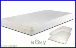 3ft 4ft 4ft6 Or 5ft Faux Leather Bed With Colour And Memory Foam Mattress Option