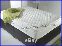 Air Flow Memory Foam Quilted Mattress 3ft Single 4ft & 4ft6 Double 5ft Kingsize