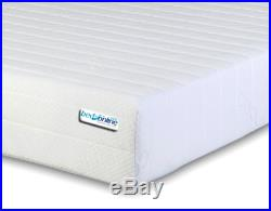 BEDZONLINE 4FT6 Double Memory Foam and Reflex Mattress with border micro quilte