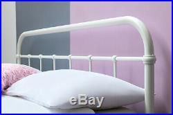 Black or White Metal Bed Frame Hospital Victorian Style Single Double King Size