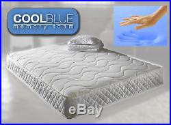 Brand New Cool Blue Memory Foam Topped Sprung Mattress 3ft 4ft 4ft6double 5ft Uk