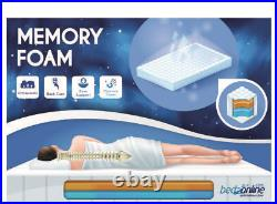 Brand New Cool Touch Memory Foam And Reflex Mattress Zip Cover British Made