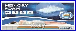 Brand New Memory And Reflex Foam Mattres Cool Touch Fabric With Free 1 Pillow