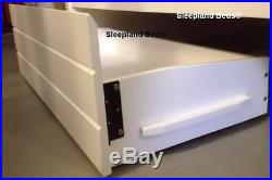 Cosmos Triple Bunk Beds WHITE or MAPLE Wooden Bunk With Drawers Double Bunks
