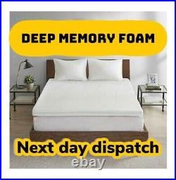 Deep Memory Foam Mattress Topper 1- 4 Thick With or without Cover