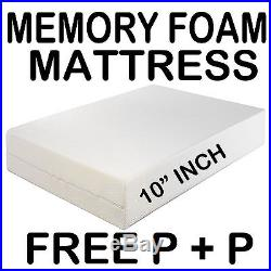 Double Size Memory Foam Mattress 10 Thick Free P & P Free Coolflow Cover