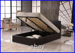 Faux Leather Ottoman Storage Bed 4 sizes 3 Colour & Orthopaedic Memory Mattress
