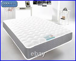 Grey Memory Foam Matress Quilted Sprung 3ft SingleDouble 4ft6 DOUBLE 5ft
