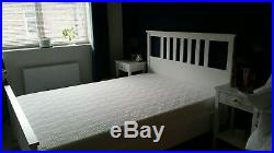 Ikea double hemnes bed frame with double memory foam mattress. Hardly used