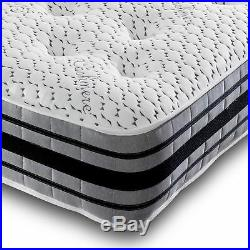 LUXURY CASHMERE MEMORY FOAM mattress 10 inch thick tufted soft and firm