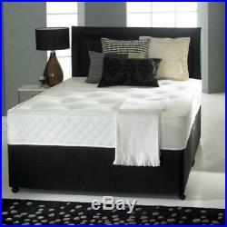 Luxury Memory Foam Divan Bed Set With Mattress and Headboard Free Delivery