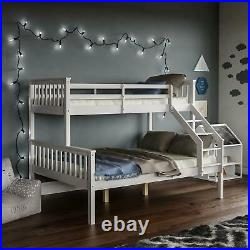 Milan Double Bed Bunk Bed Triple Wooden Kids Childrens Bed Frame Mattress