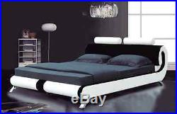 Modern Italian Designer Double & King Size Leather Bed-2 Colours-furniture-ij103