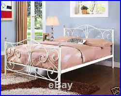 NEW 4ft6 DOUBLE BED CLASSIC METAL BED + MATTRESS OPTION