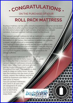 New Deluxe Reflex Orthopedic Foam Mattress All Size Perfect For Allergy Sufferer