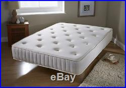 New Memory Foam Mattress with Springs Bonnell Sprung Orthopaedic Deep Comfort