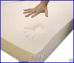 New Memory Foam mattress Topper At All Thicknesses and Sizes And Free ZipCover