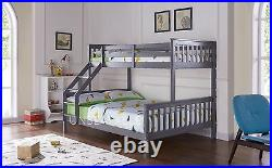 Pine Triple Bunk Bed Solid Wood Frame Children Kid Bed Mattress Various Colours