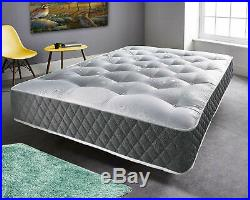 BRAND NEW LUXURY STRECHABLE MEMORY FOAM ZIP COVERS 3FT 4FT 4FT6 5FT COVER ONLY