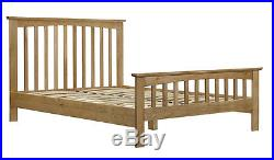 Solid Oak Bed Frame Double or King Size Classic Shaker Style + Mattress Options