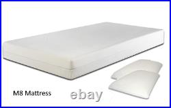 Storage or Low Bed in White Black Grey Brown 3FT 4FT 4FT6 5FT + Mattress Choices