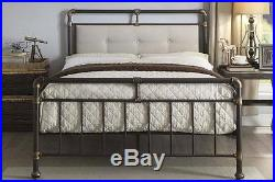 Vintage Industrial Scaffold Style Metal Bed Frame Single / Double / King Size