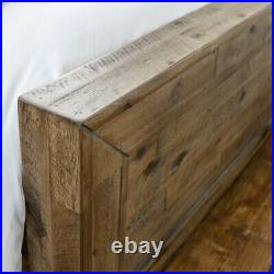 Wood Oak Bed, Hoxton Low Foot End Bed with 3 Size and 4 Mattress Options